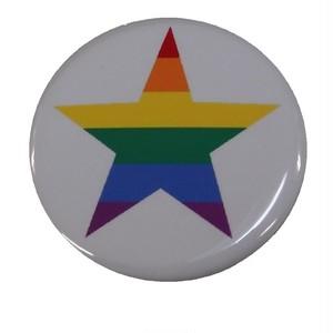 オリジナル缶バッジ〈レインボースター/Rainbow Star〉
