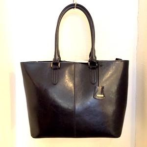 Split-Leather Tote Bag Navy