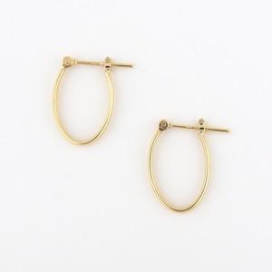 Oval hoop pierce