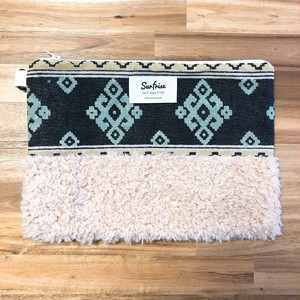 Denim clutch bag ID1 - Green