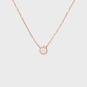 ENUOVE NOTTE Diamond Necklace K18PG(イノーヴェ ノッテ 0.1ct ダイヤモンドネックレス K18ピンクゴールド スライドアジャスターチェーン)