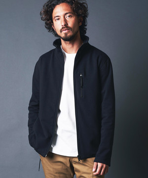 BACK FLEECE STAND BLOUSON