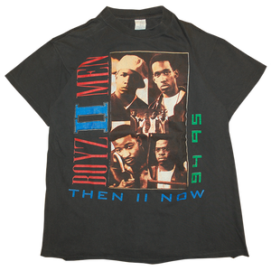 """Boyz Ⅱ Men Then Ⅱ Now 94-95 Tour"" Vintage Tee"
