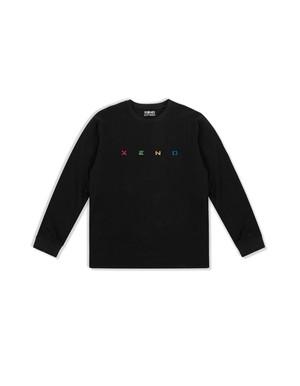 XENO EMBROIDERY LS T-shirt Black