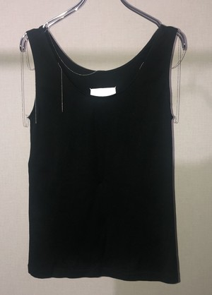 SS2006 MARTIN MARGIELA TANK WITH CHAINS