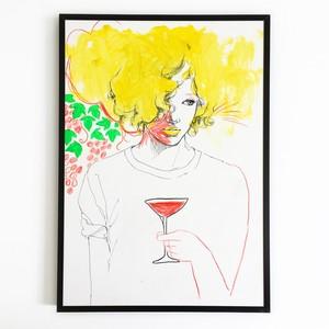 【B】原画「チミのシトミに乾杯」2017年制作