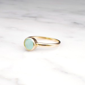 S925 MINI AQUA CHALCEDONY RING GOLD 001