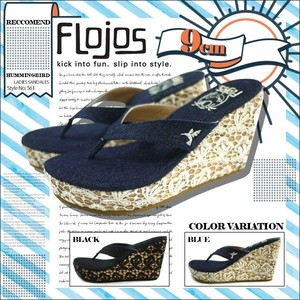561HUMMINGBIRD 厚底サンダル レディース 女子 美脚 歩きやすい 人気ブランド 選べる 2カラー 夏 海 リゾート 黒 ブルー FLOJOS フロホース