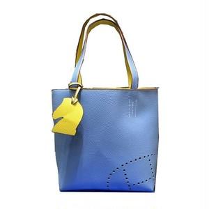 お取り寄せ商品パンチングトートバッグ(ブルー・イエロー)