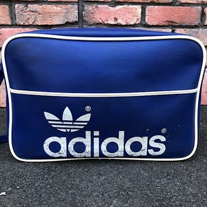 1970s Adidas Peter Black Ltd. Shoulder Bag Made In England Blue