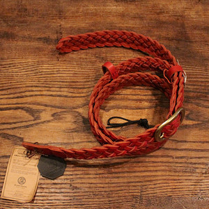 Braided Leather Strap / Red