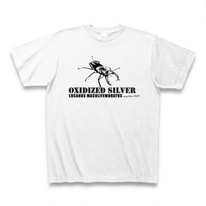 ミヤマクワガタ Tシャツ -maylime- オリジナルデザイン ホワイト
