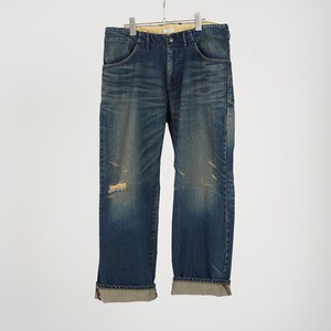 WIDE DENIM PANTS USED (INDIGO) / GAVIAL