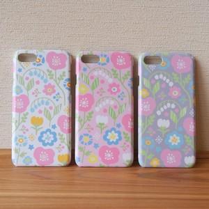 【S/Msize】春待ちパステルフラワーのプラスマホケース #iPhoneX対応