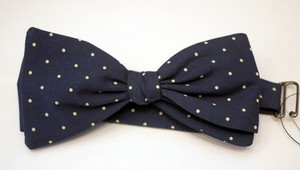 INDIVIDUALIZED ACCESSORIES bowtie Dot NAVY