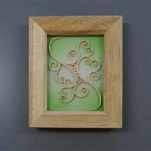 木材アートのミニ額縁   Small frame with wood art 【さっぽろアイヌクラフト】