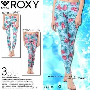 RLY181023 ロキシーレディース レギンスパンツ オススメ UPF50+ ボタニカル 人気 花柄 ラッシュレギンス 選べる3カラー 白青ピンク HOLIDAY LEGGINGS ROXY