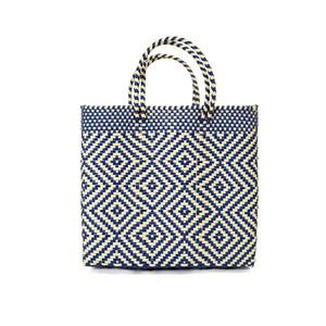 MERCADO BAG MULTI DIAMOND-Navy x Cream(S)