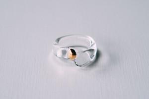 8号 cleargold ring (no.21)