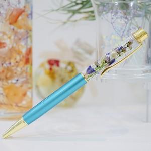 ハーバリウムボールペン Aqua Blue × Purple【送料無料★ポスト投函】