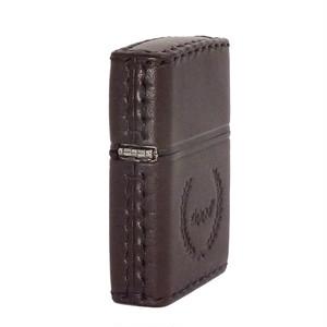 ジッポ ZIPPO ライター 本牛革手縫い DB-7 ブラウン ブラウン