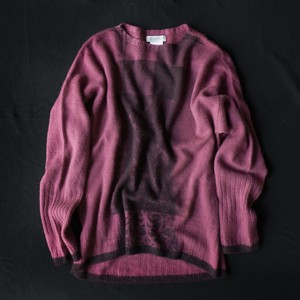 【11/11入荷】marumasu FLOWER[purple×gray]カシミヤ100%