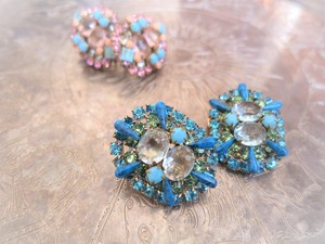 vintage earrings bijou <ER-RBtqbl>