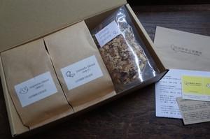 『珈琲ギフト#3』珈琲豆(粉)200g x 2袋とグラノーラ