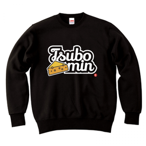 TSUBOMIN / CHEESE & LILY SCRIPT LOGO CREWNECK SWEAT BLACK