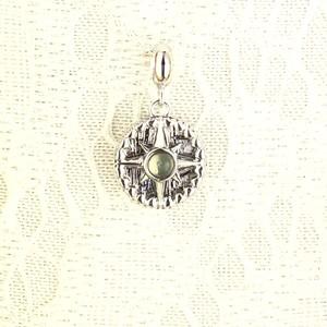 1/18新着★≪小さめ≫ギベオン隕石(シルバー)&モルダバイト☆コイン型ペンダントトップ