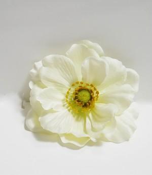 ヘアコサージュ(造花)*アネモネ01*ホワイト