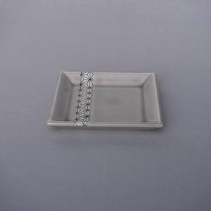麻ノ葉角皿(小)墨 [ 10.5 x 10.5 x 高さ1.5cm ] 【箸で食べる「ジビエフレンチ」グレード】