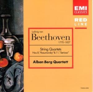 [中古CD] ベートーヴェン:弦楽四重奏曲第8番「ラズモフスキー第2番」/第11番「セリオーソ」 アルバン・ベルクSQ