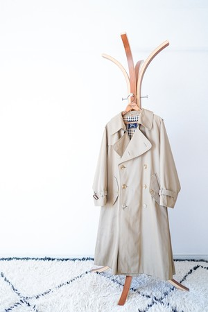 """【1990s, One-Panel Sleeve】""""Burberrys"""" 100% Cotton Trench Coat / v461"""