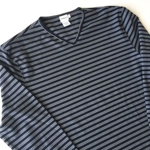 Calvin Klein Jeans  : stripes V-neck c&s (used)