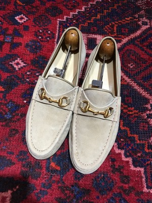 .GUCCI SUEDE LEATHER HORSE BIT LOAFER MADE IN ITALY/グッチスウェードレザーホースビットローファー 2000000040875