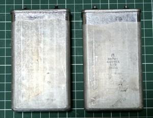 激安 オイルコンデンサ  2個セット ロシア軍用 PIO オイルコンデンサ  ペーパーインオイル 4uF 500V 2個のお値段ですよ!