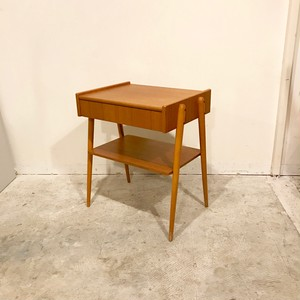 Vintage Teak Bedside Table by AB Carlstrom 1960's スウェーデン