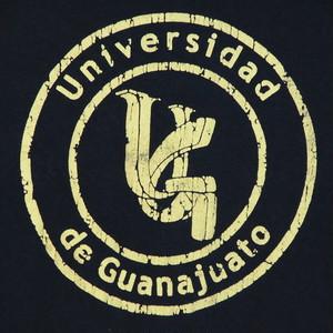 USA古着プリントTシャツS紺Universidad de Guanajuato綿100極上