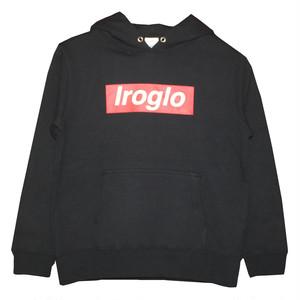 KIDS/IROGLO(イログロ)×N°D(ナンバーディー)BOX LOGO/プルオーバーパーカー/ブラック