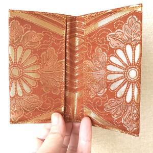 【24金・菊の紋章】西陣帯カードケース