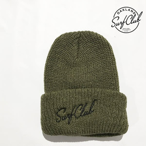 Oakland Surf Club オークランドサーフクラブ/New Wave beanie/ニューウェーブビーニー/ニットキャップ/OLIVE【osc013-olive】