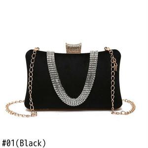 Evening Bag Leather Chain Shoulder Bag Small Handbag Clutch Flap Bag ショルダーバッグ レザー チェーン ハンドバッグ (HF0-0537608)