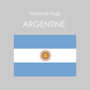 National Flags Sticker [ARGENTINE]