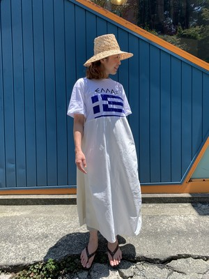 Used print Tee dress White / F
