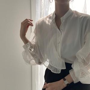 ランタンフリルシャツ