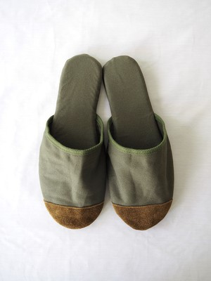 KURASHIKI CANVAS Slipper Olive Drab