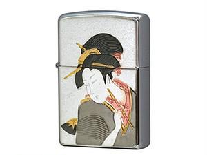 ジッポ ZIPPO ライター ZP 電鋳版 浮世絵 シルバー
