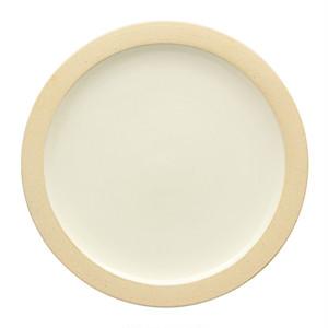 出西窯 縁焼〆皿 6寸 白