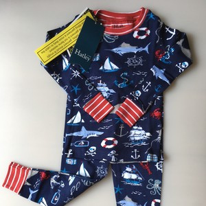 SALE Hatley 海の仲間たち Boy's長袖パジャマ(OrganicCotton100%)Vintage Nautical PJ Set